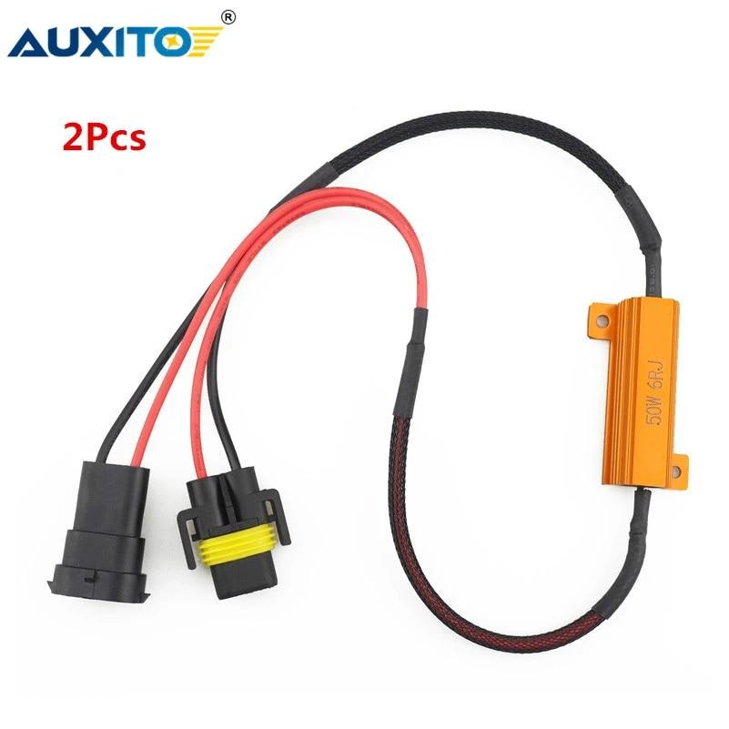 2pcs 9005 Hb3 9006 Hb4 H8 H11 Led Bulb Decoder Resistor 50w Canbus Error Canceller Wire Harness Adapter For Car Fog Lamp Light Car Fog Lamp Aliexpress
