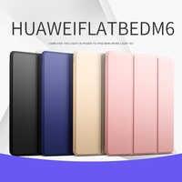 """Astuta di Sonno per il Caso di Huawei MediaPad M6 10.8 """"SCM-AL09 DELL'UNITÀ di elaborazione di Cuoio Piegante Del Basamento Del Tablet di Vibrazione Borsette per MediaPad M6 8.4"""""""