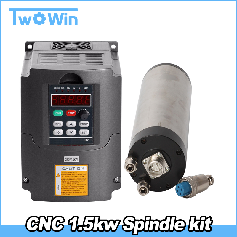 CNC Router Spindle Motor 1 5kw kit Water Cooled Machine Tool ER11 65mm Spindle 220v 1