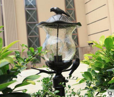 Lampe de pelouse imperméable à l'eau extérieure style pastorale européen lampe de jardin à LED étanche à la pluie villa de jardin phare de colonne extérieure