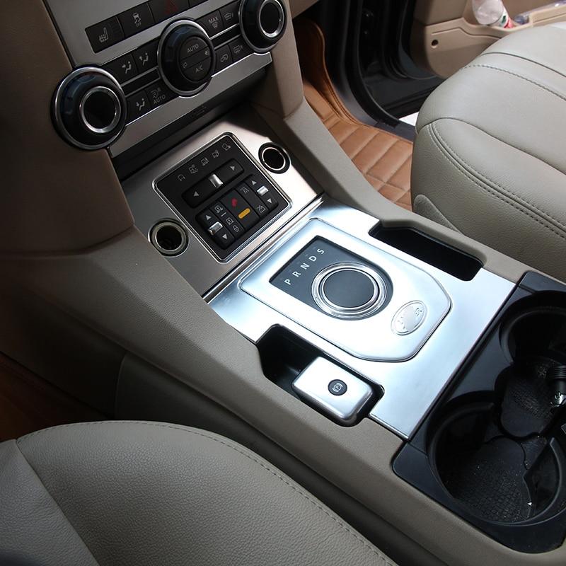 Chrome Gear Shift Knob Frame Trim Sticker Decoration For Land Rover Discovery 4 LR 2013 2014 Car Styling