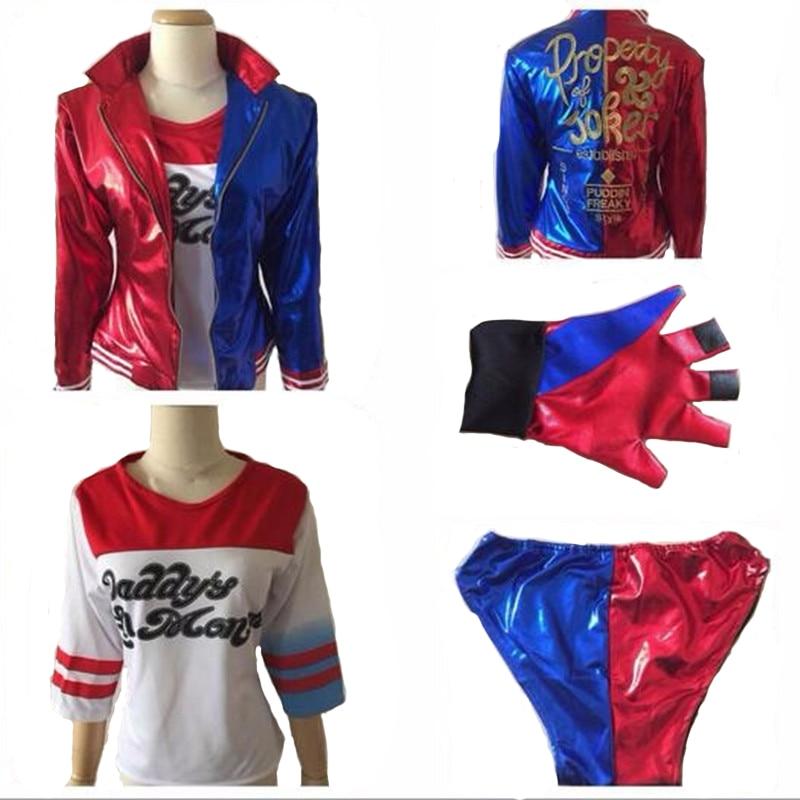 Cosplay Batman Suicide Squad Joker Harley Quinn Costume Halloween female Monster Uniform Free Gift