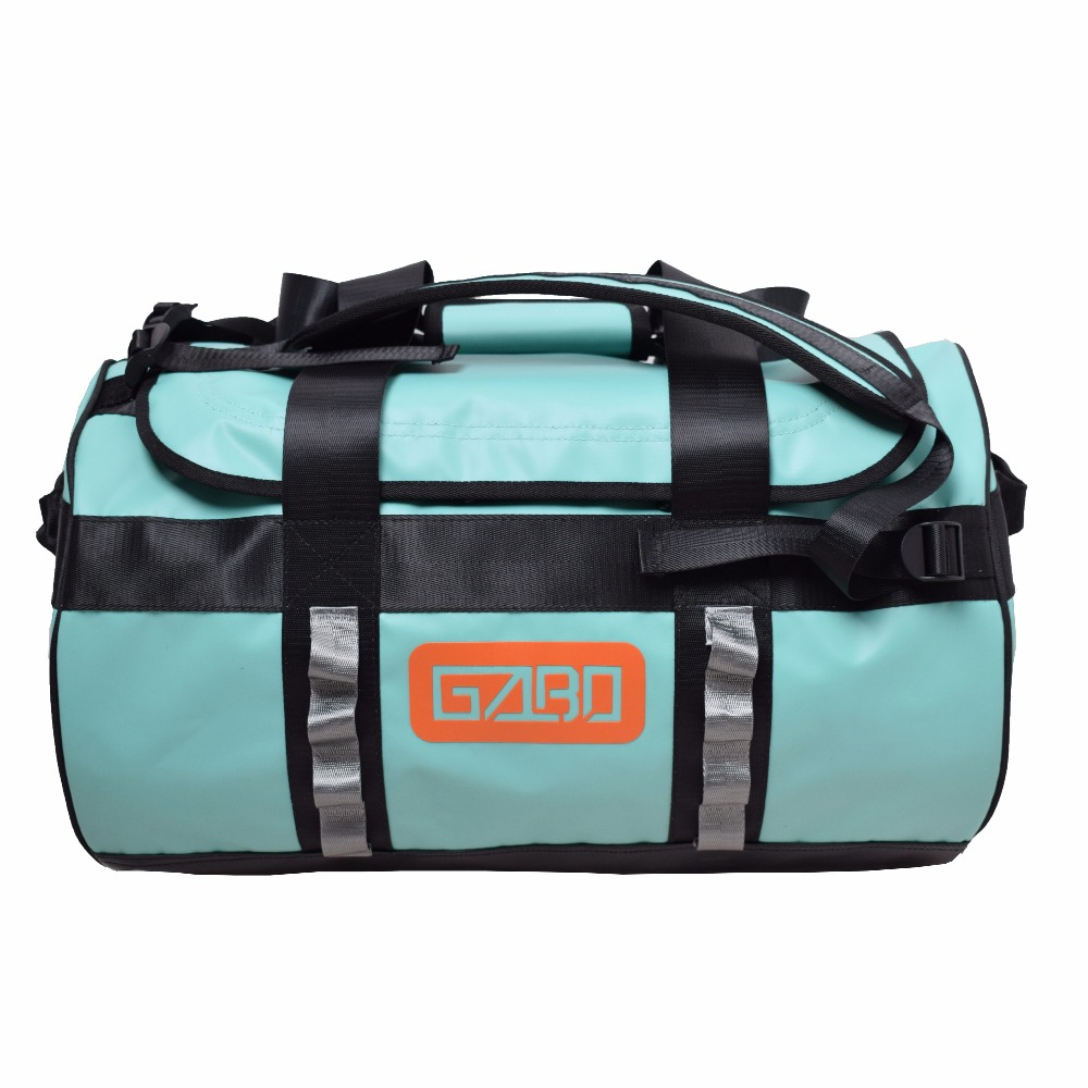 GZLBO 35L Backpack Mint Green Waterproof Bug Out Bag Small Rucksack Dry Travel Duffel bag with mesh zipper pocket inner cut out shoulder bag with inner pouch
