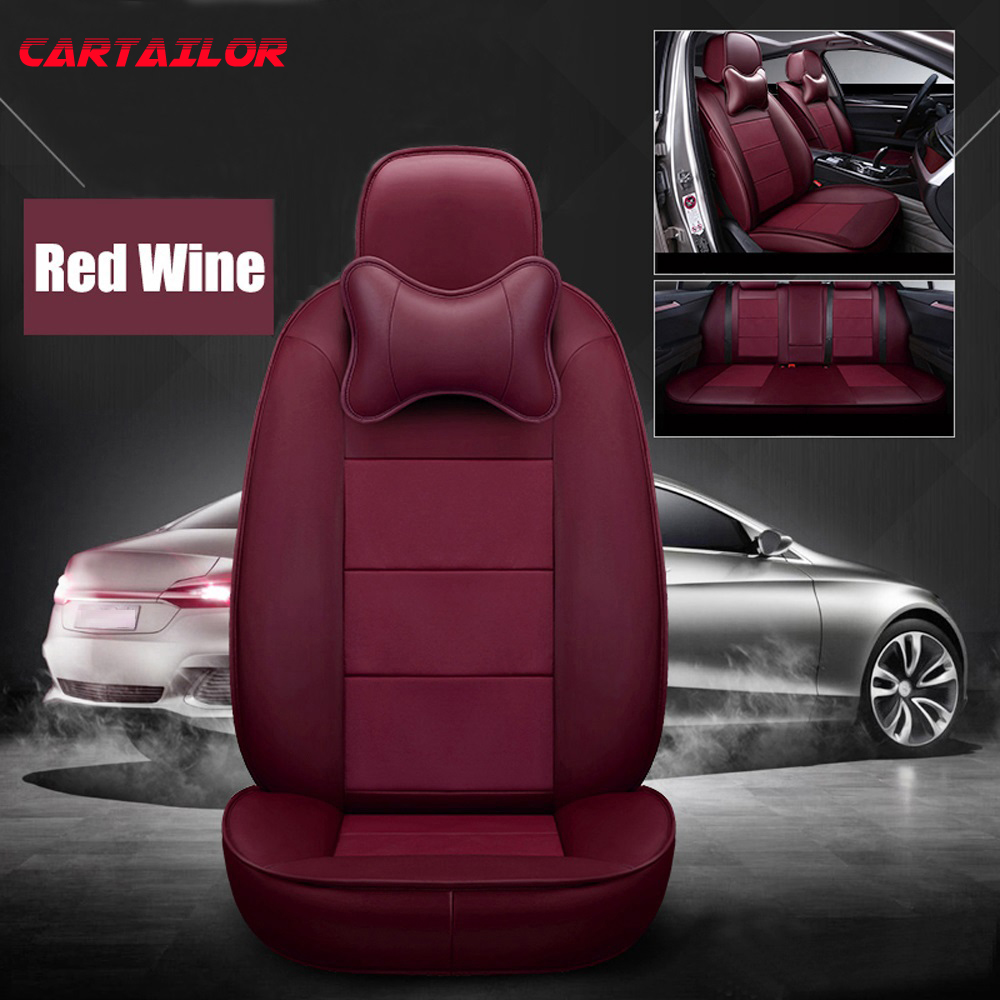 Luxury RED /& BLACK Leatherette Car Seat Covers 2 x Fronts Peugeot RCZ