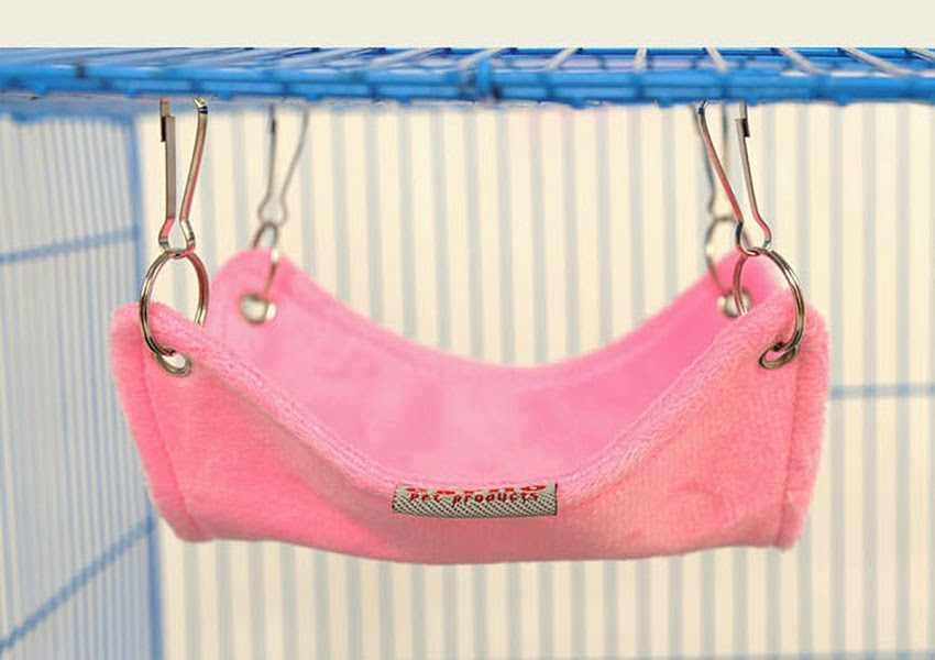 Теплая фланелевая переноска для хомяка морская свинья-кролик подвесная клетка для кровати аксессуары для маленьких домашних животных Hamaca