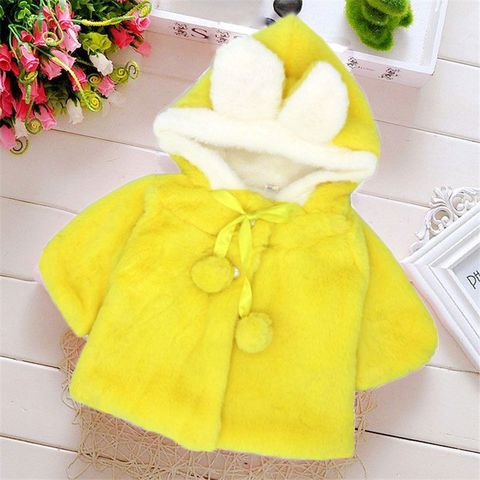 R&Z Baby Infant Girls Fur Winter Warm Coat 2019 Cloak Jacket Thick Warm Clothes Baby Girl Cute Hooded Long Sleeve Coats Jacket Multan