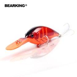 Bearking heißer modell, A + angeln locken kurbel 64mm 16g 6 farben für wählen dive 2,5-3,2 m. Angeln bewältigen harten köder