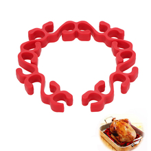 Cooking-Tool Roasting-Rack Heat-Resistant Silicone Flexible Ring Safe Poultry-Vegetable