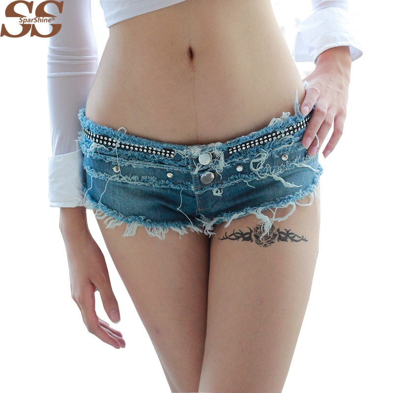 Denim Shorts Feminino  Low Waist  European And American Style Zipper Button 2017 Fashion Hot Selling