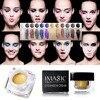 IMAGIC Profissional 12 Colors Gel Eye Shadow Cream Beauty Glitter Waterproof Long Lasting Shimmer Make Up
