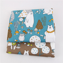 Bear Print Cotton Twill Fabric Baby Cloth Patchwork Textile DIY Sewing Quilted Fat Dormitory Sheet Thin Cotton Fabric Material
