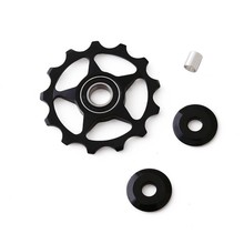 цены 11T 13T MTB Road Bike Rear Derailleur Pulley Bicycle Rear Derailleur Pulley Roller Idler Bearing Jockey Wheel Bicycle Parts New
