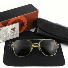 Piloto polarizado óculos de sol dos homens de alta qualidade marca designer ao masculino exército americano militar ótico yq1002