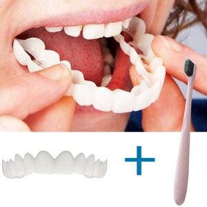 Temporary Smile Comfort Fit Cosmetic Teeth Denture Teeth Top Cosmetic dentadura postiza completa dientes falsos #y2(China)