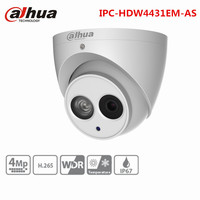 Dahua 4MP CCTV Camera POE IPC HDW4431EM AS H 265 IP67 Built In Mic Eyeball WDR