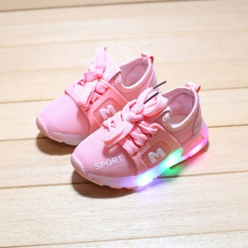 Children Baby Girls Boys Letter Crystal Led Light Luminous Running Sport Shoes fashion toddler boy tennis shoes