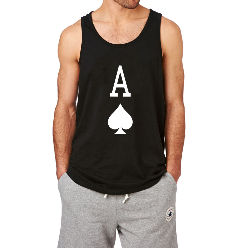 b12cecd4416740 Mens Ace of Spades Workout Fitness Tank Tops men-in Tank Tops from Men s  Clothing on Aliexpress.com
