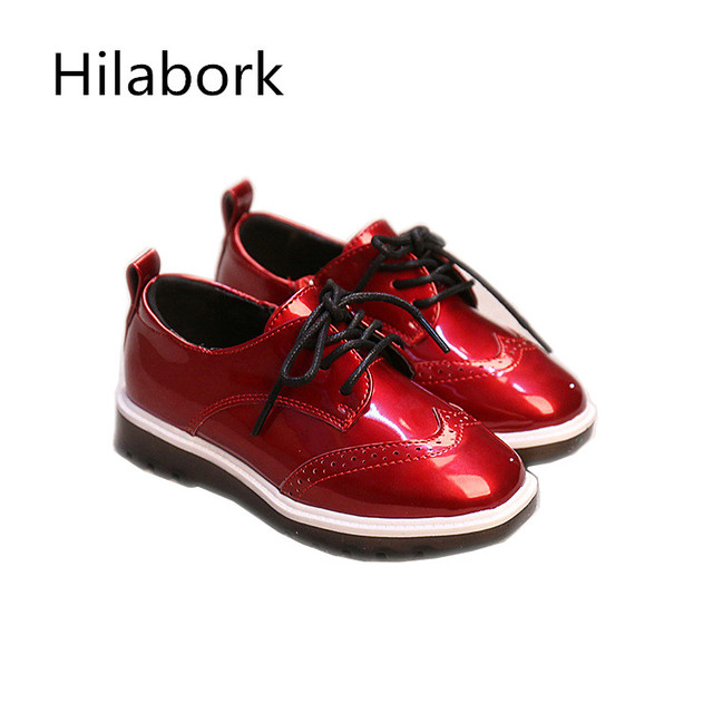 2017 spring new children's shoes non-slip low to help leather shoes fashion side zipper smooth boys and girls casual board shoes