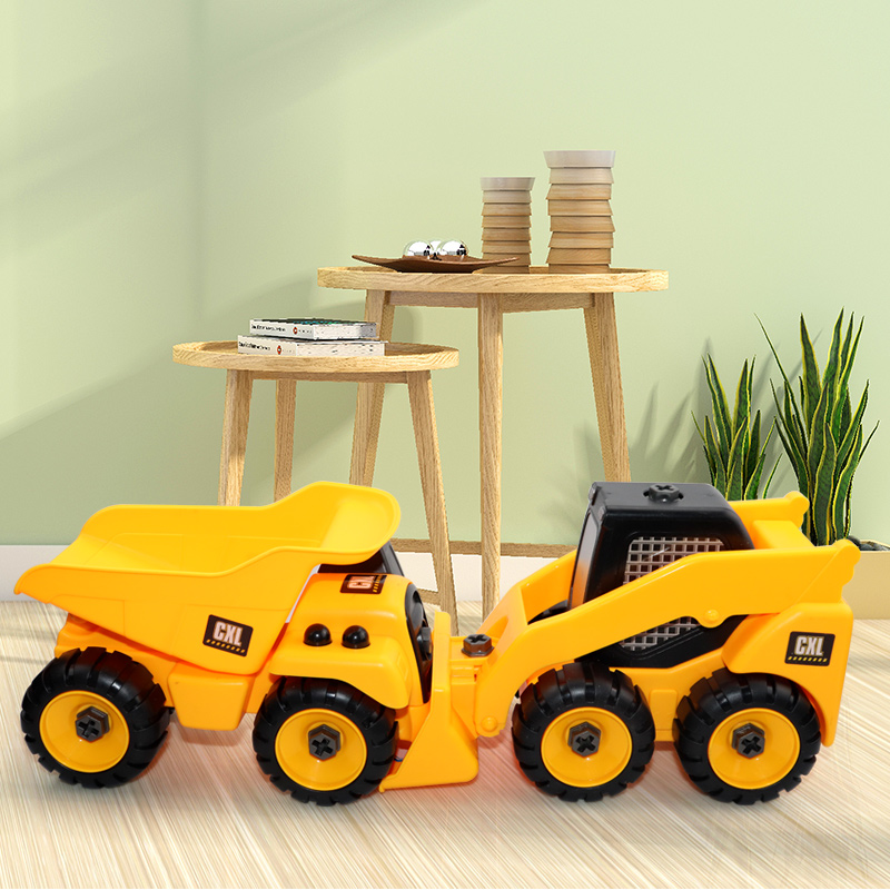 2Pcs Youwant Toy Detachable Excavator Transport Vehicle Model Car Suitable For 3 Year Old Children Beach Toy Car