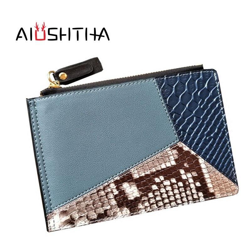Porte-carte d'identité femmes banque cartes de crédit portefeuille en cuir organisador porte-cartes porte carte porte carte bancaire minimaliste