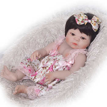 Hot Sale KEIUMI Reborn Girl Baby Doll Full Silicone Body Realistic Princess Newborn Doll For Kid Birthday Gift Child Shower Toy