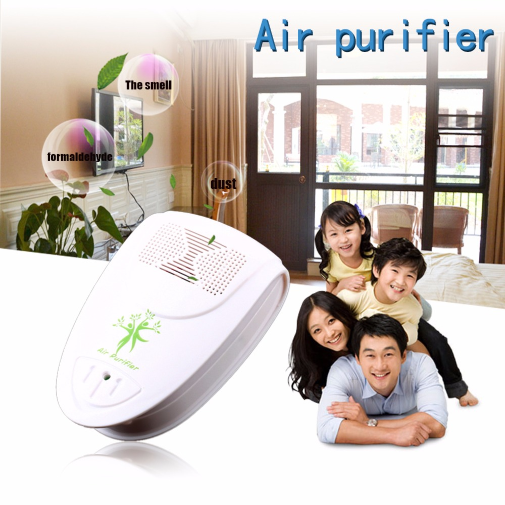 Mini Indoor Oxygen Bar Lonizer Air Fresh Purifier Home Wall With US Plug Adapter Home Autocar Negative Ion Purifier 110/220V family home indoor horizontal bar on the door frame wall fitness chin up device