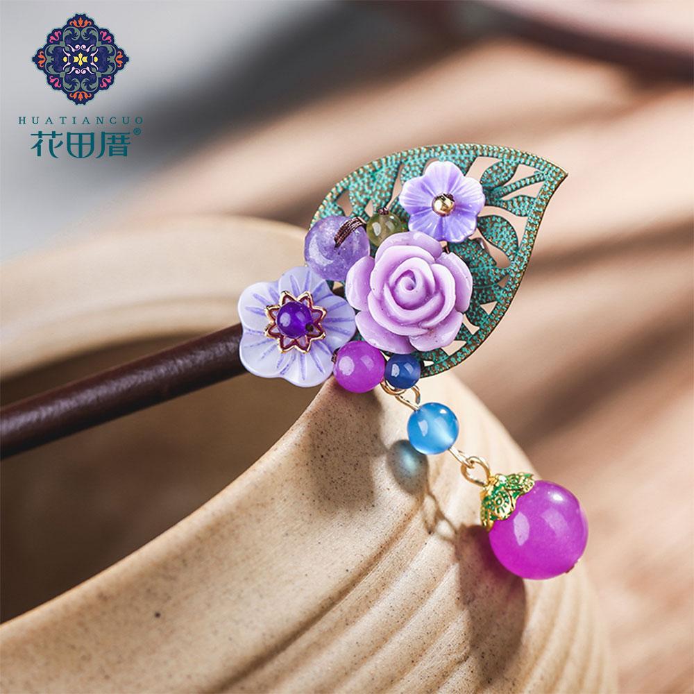 Ethnic Handmade Flower Hairpin 2