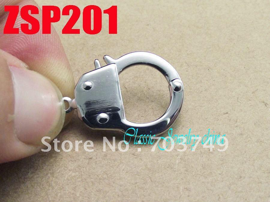 Petites menottes forme acier inoxydable collier pièces bracelet connexion bijoux accessoires ZSP201 - 6
