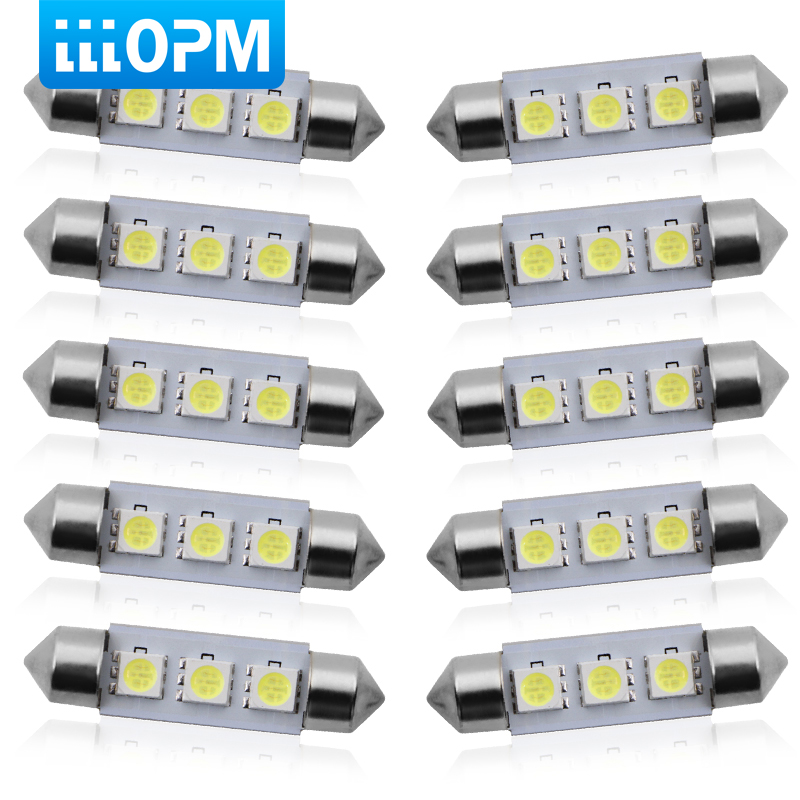 RENAULT 36MM 3 SMD LED Festoon Dome Light Lamp Bulb