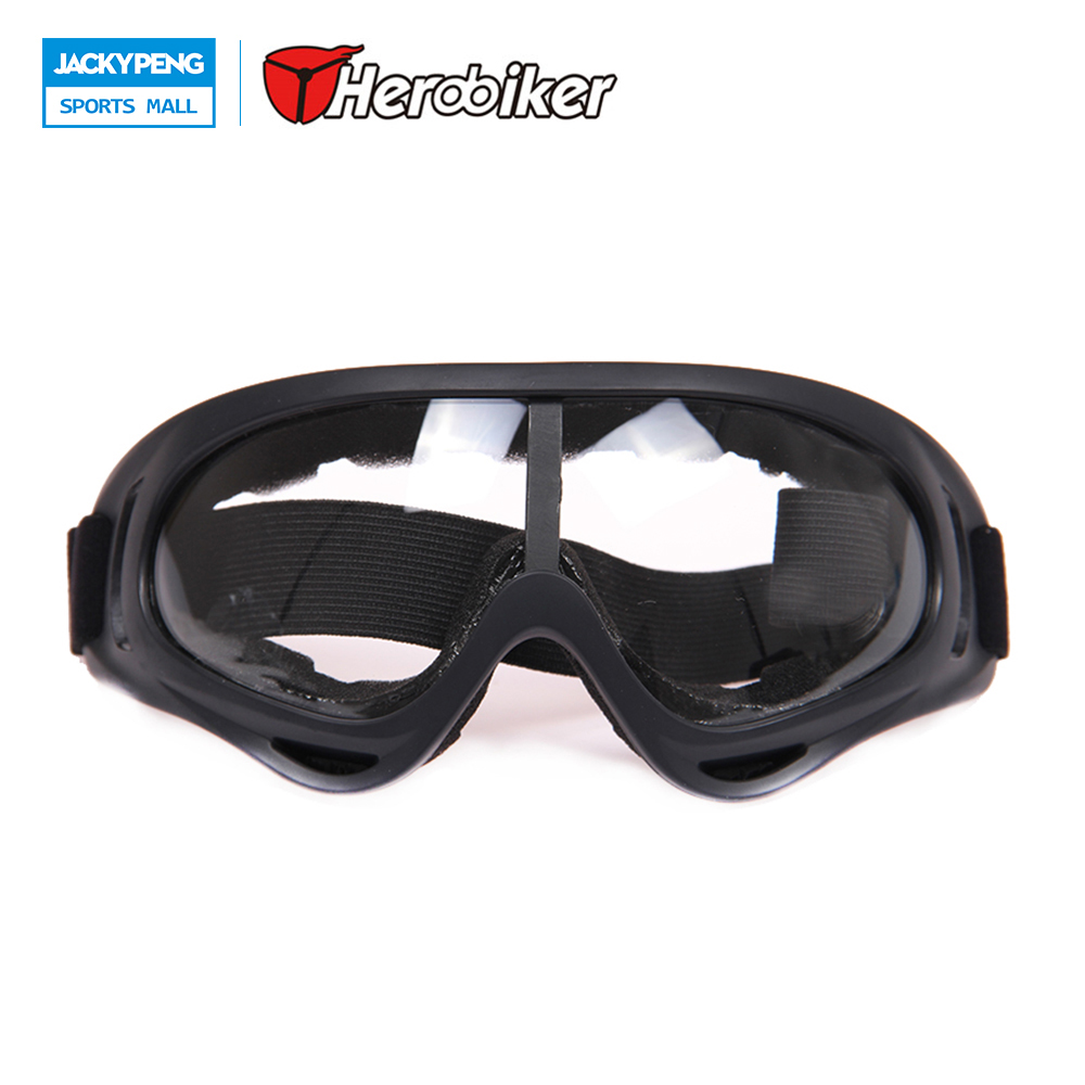 HEROBIKER Winter Motorcycle Dirt Bike Goggles Ski Sled Skate Windproof Glasses Mirror Colored Optional Clear Lens Free Shipping