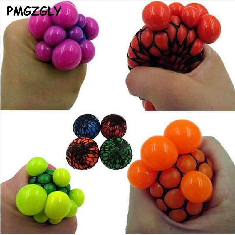 Toy Funny Geek Gadget for Men Halloween Jokes 1PC 2017 Anti Stress Face Reliever Grape Ball
