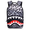 shark backpack for boy children school bags for boys 3d tiger lion leopard animal shoulder bag men travel bags kids back pack