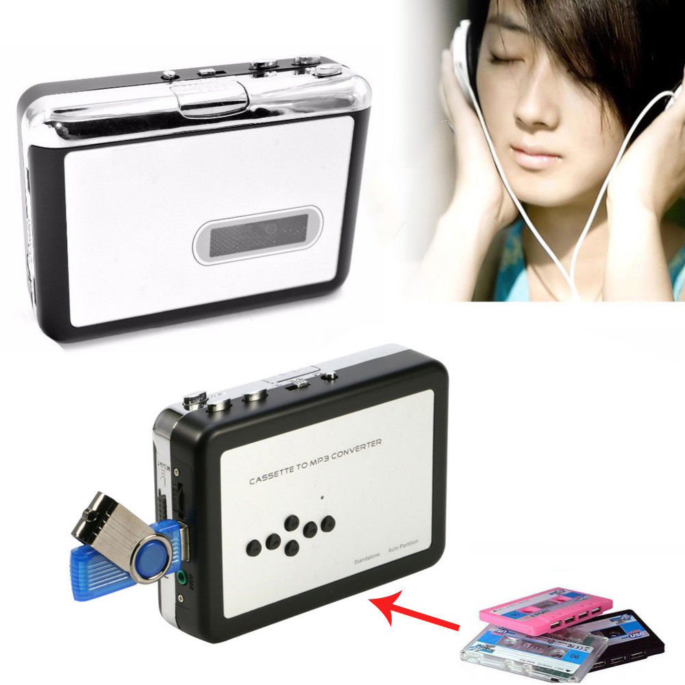 new cassette player converter, convert old tape to mp3 to USB U flash disk directly Audio Capture Music Song Walkman Player цена