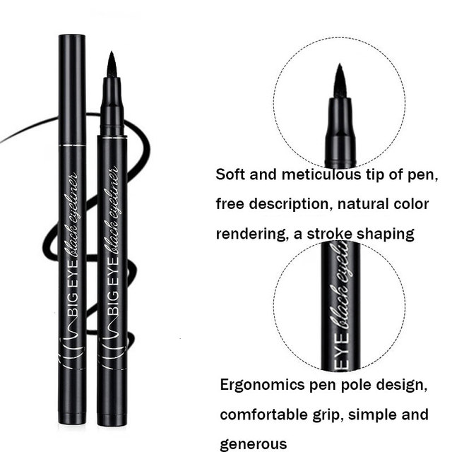 Professional Black Liquid Eyeliner Waterproof Long-lasting Make Up Women Comestic Eye Liner Pencil Makeup Crayon Eyes Marker Pen 1