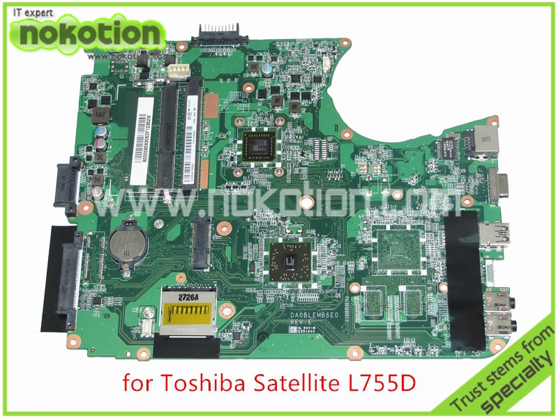 NOKOTION NOKOTION A000080830 DA0BLEMB6E0 REV E For toshiba satellite L750D L755 L755D laptop motherboard AMD E350 DDR3 wzsm new laptop lcd cable for toshiba satellite l750 l750d l755 l755d video flex cable dd0blblc000 dd0blblc040