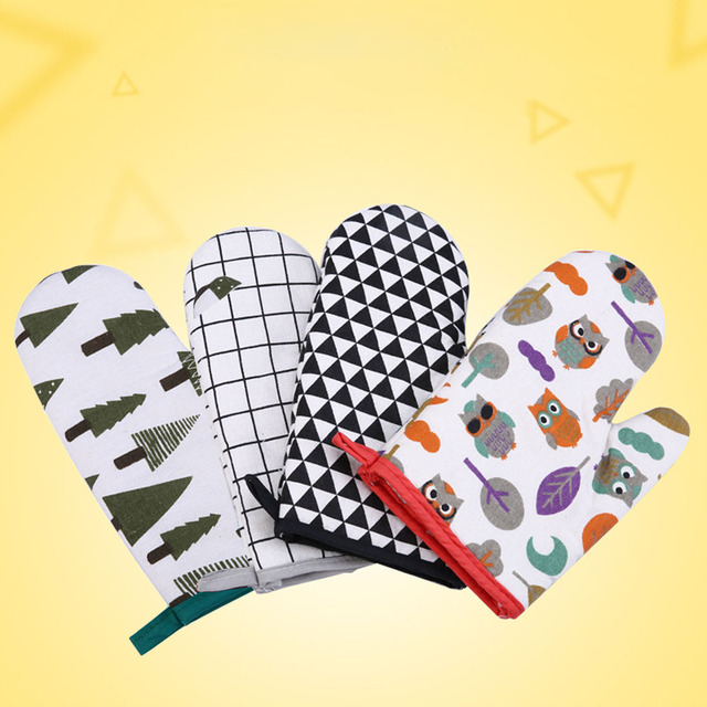 1Pcs Cotton Oven Mitten – Patterns