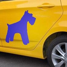 EmpireYing 3 rozmiary 8 kolorów Mini sznaucer miniaturowy rodzina zwierząt pies zwierzęta Cartoon samochodów naklejki okno próg drzwi etykiety winylowe