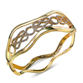 Hollow design High quality Copper Material Fashion Bangle for Women Gold and Rhodium plated Trendy Bangle!