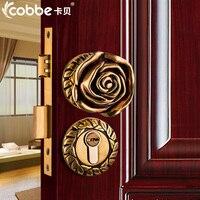 Полный латунь деревянная дверь замок простая деревянная дверь Разделение Замки цинковый сплав Крытый двери Замки Спальня отель Офис замок
