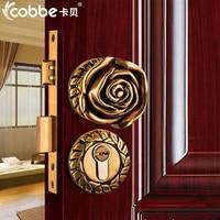 Full Brass wood Door Lock Simple Wooden Door Split Locks Zinc Alloy Indoor Door Locks Bedroom Hotel Home Office Door Lock