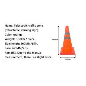 Image 5 - חדש טלסקופי חרוט תנועה רכב אזהרת סימן מחסום קונוס רעיוני בצד הדרך חירום משולש בטיחות סימן יצוא