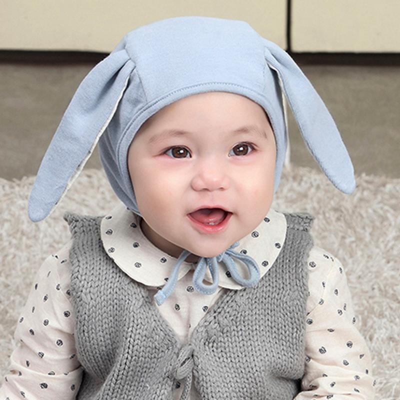 Newborn Baby Hat Rabbit Ears Baby Cotton Beanie Hat for Boys Girls Solid Baby Cap Ears Newborn Caps