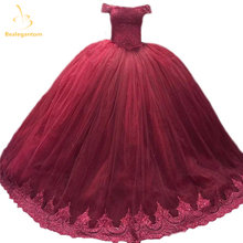 Bealegantom элегантное бордовое бальное платье кружево Бальные