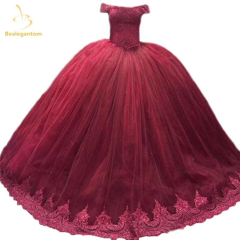 Bealegantom Elegant Burgundy Bollklänning Lace Quinceanera - Särskilda tillfällen klänningar - Foto 1