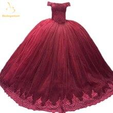Bealegantom Elegant Burgundy Ball Gown Lace Quinceanera Dresses 2019 Up Sweet 16 Dress Debutante Vestidos De 15 Anos QA1248