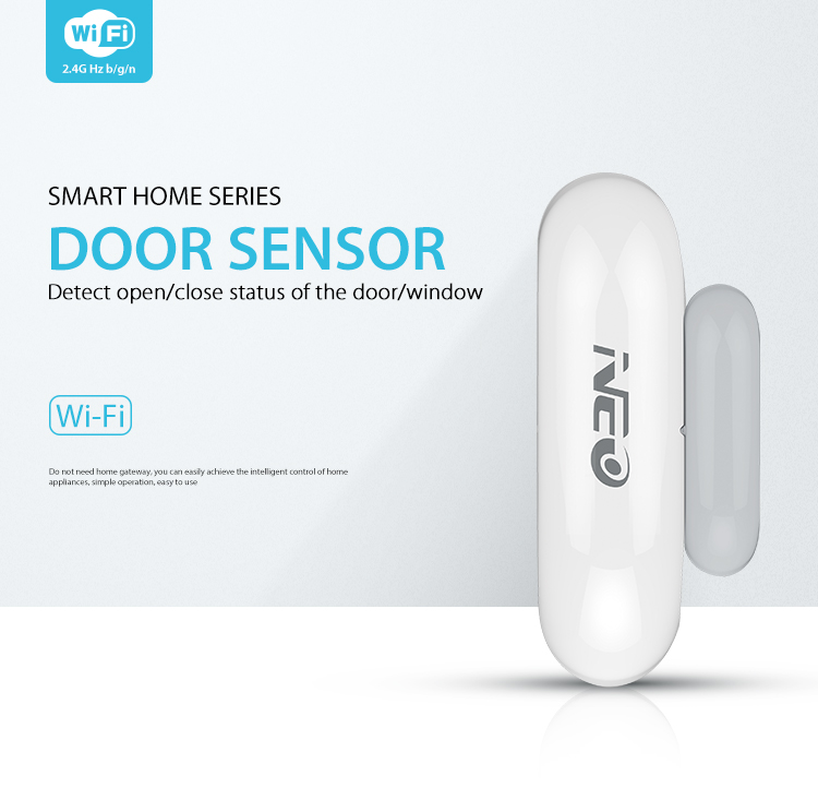 NEO COOLCAM Wifi Door Window Sensor detector No HUB Required Smart Home Automation Modules Works with Google Home Alexa IFTTT