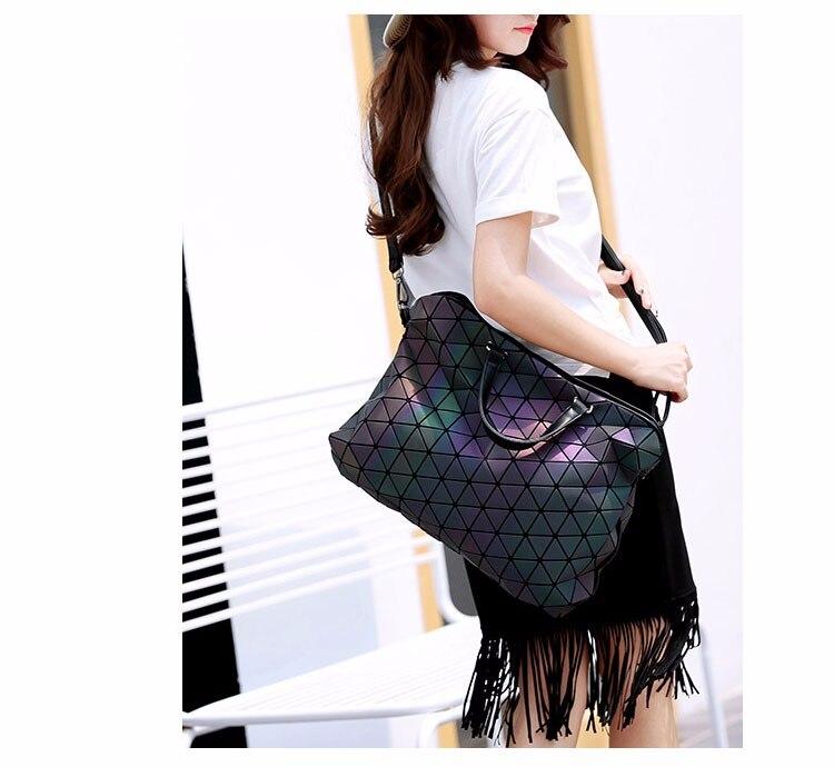 2017 Brand Luminous Women Bao Bao Bag Lightning Geometric Handbags Plaid Shoulder Diamond Lattice BaoBao Ladies Messenger Bags цена 2017