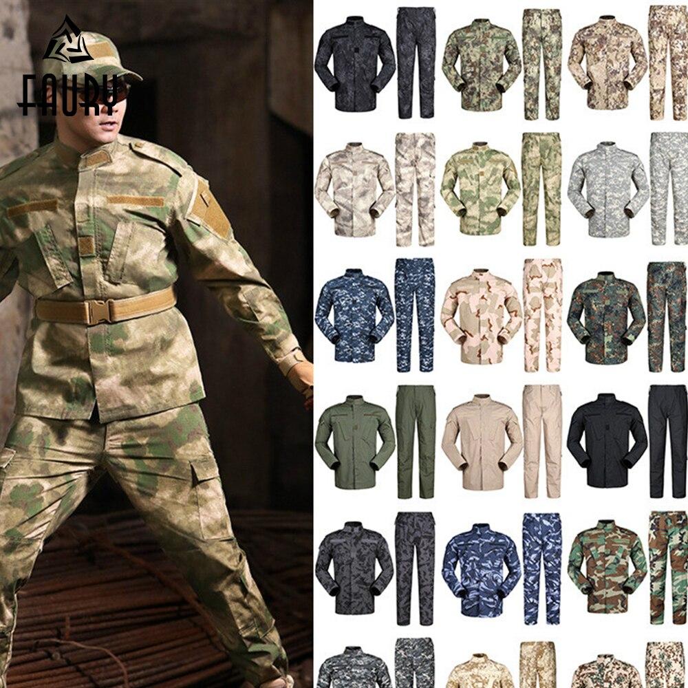 Hommes Armée Tactique Militaire Uniforme Camouflage Combat Vêtements Tactique Pantalon Cargo Forces Spéciales ACU Soldat Formation Ensemble