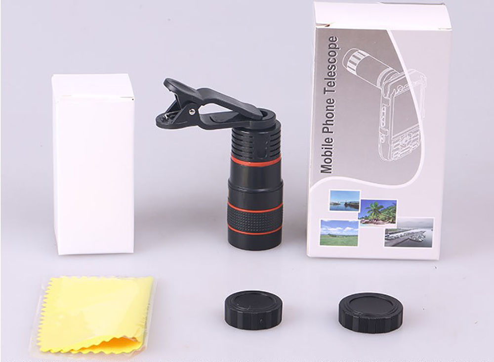 Image 5 - Universal 8X Optical Phone Camera Lens Telescope Monocular Wide angle for iPhone Huawei Samsung with free smartphone holder-in Monocular/Binoculars from Sports & Entertainment