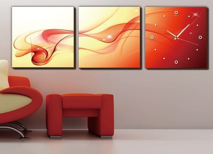 Wall Frame With A Watch Photo Bedroom Or Living Room 30 40 40cm Fastness Free Shpping In From Home Garden On Aliexpress